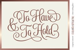 To Have and To Hold | cricut silhouette wedding cut file svg Product Image 1
