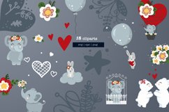 Nursery baby and valentine day cliparts, cards, patterns Product Image 4