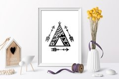Teepees and Arrows Svg Bundle. Teepee SVG, Boho Arrows SVG. Product Image 5