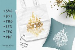 Floral Princess Castle - SVG DXF PNG EPS JPG PDF Cut File Product Image 3
