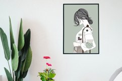 Art Print | Wall art Girl fashion,Minimalist Artwork Product Image 4