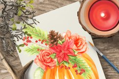 thanksgiving pumkins Watercolor clipart Product Image 4