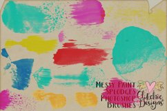 Messy Watercolor Paint Splodge Photoshop Brushes Product Image 3