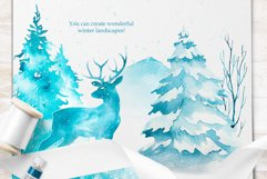 Winter. Watercolor collection. Product Image 14