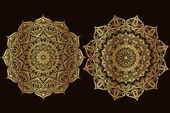 Set of gold mandalas. Lace pattern. Product Image 3