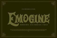Emogine   Modern Victorian Font Product Image 1