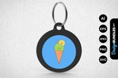 Colourful Ice Cream Keychain Product Image 1