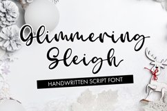 Glimmering Sleigh - Handwritten Script Font Product Image 1
