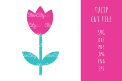 Tulip SVG Cut files, Tulip cutting files, flower cut file Product Image 1