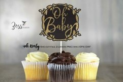 Oh Baby Cake topper design Product Image 3
