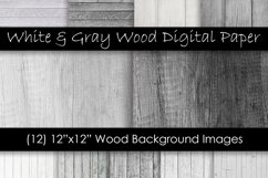 White & Gray Wood Textures - Wood Digital Paper Product Image 1