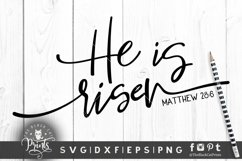 He is risen SVG   Easter SVG   Bible verse SVG   Christian Product Image 2
