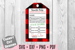 Christmas Gift Tag Buffalo Plaid SVG Print and Cut Product Image 1