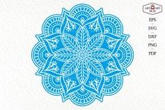Mandala boho for cutting. Contour, silhouette. Product Image 3