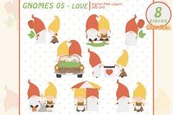 Cute GNOMES in LOVE clipart, Fairy tale, Romantic clip art Product Image 1
