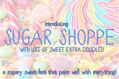 Sugar Shoppe Font for Crafters and Designers with EXTRAS! Product Image 1