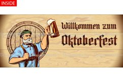 Vector Flyer Invite Copyspace Beer Glass Oktoberfest Man Product Image 3