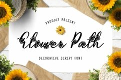 Flower Path Font Product Image 1