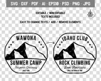 Summer Camp Logo Template, Retro California Badge SVG File Product Image 5
