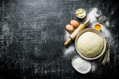 20 Photos Dough background. Dough preparation. Ingredients. Product Image 6