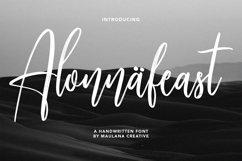 Alonnafeast Brush Script Font Product Image 1