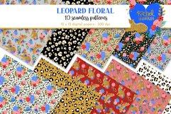 Leopard Floral Clipart & Patterns Product Image 2