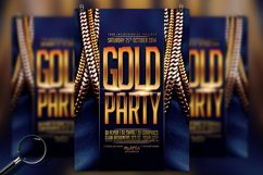 Gold Party | Urban Flyer Template Product Image 1