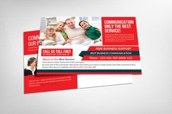 Communications Company Postcard Template Product Image 1
