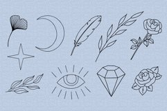Hands clipart and procreate stamps with logo elements Product Image 5