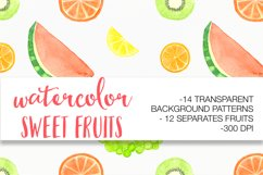 Watercolor sweet fruits Product Image 2