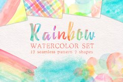 Rainbow watercolor seamless pattern Product Image 1