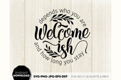 Welcome-ish SVG Porch Sign SVG Front Door Decor SVG Welcome Product Image 5
