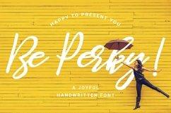 Be Perky! Handwritten Font / Brush Font Product Image 1