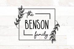 Vol 2 - Family Monogram Sign Bundle Floral Product Image 2