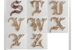 Layered Alphabet -5 layers -SteamPunk Alphabet -laser cut Product Image 2