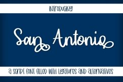 San Antonio - A Thick Clean Cut Friendly Script! Product Image 1