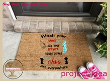 Sign SVG | Wash And Pray Bubbles Reminder Quote Product Image 3