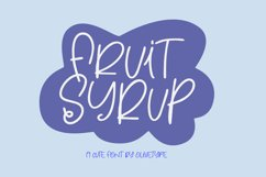 Fruit Syrup - A Fun Font. Product Image 1