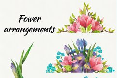 Watercolor flowers, clipart. Spring flowers Product Image 3