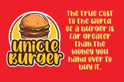 Spicy Burger - Delicious Unique Font Product Image 5