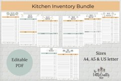 Kitchen Inventory Bundle - Editable Product Image 1