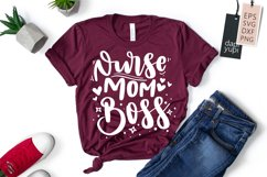 Nurse Quotes, Nurse Mom Boss Lettering Quotes Product Image 1