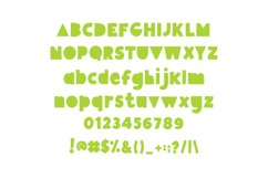 Giggle Glory, a fun block font Product Image 5