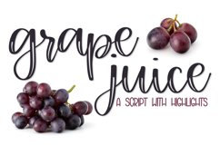 Grape Juice - A Fun Script With Highlights Product Image 1