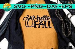 Hello Fall -Pumpkin - SVG PNG EPS DXF Product Image 1