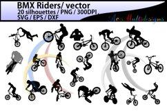 bmx rider silhouette / BMX Rider svg / bmx riders / bmx cycle / bmx rider cliparts / bmx rider vector / bike ride / SVG / EPS / Png / DXf Product Image 1