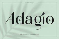 Adagio Decorative Ligature Font Duo Product Image 1