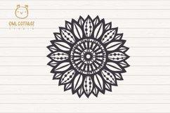 Sunflower Zentangle svg, Sunflower svg, Sunflower Monogram Product Image 2
