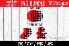 Buffalo pattern svg bundle, layered files Product Image 2