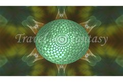 Abstract texture background with a green sphere. Product Image 1